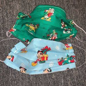 2 Mickey Mouse Christmas Face Masks